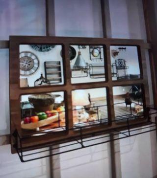 Espejo ventana industrial