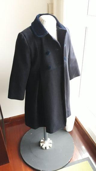 abrigo niña 100% Lana talla 4