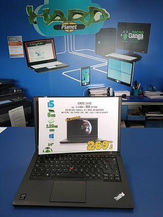 Portátil Lenovo T440s i5 4300 8Gb SSD 128GB
