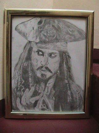 Cuadro Carboncillo Jack Sparrow