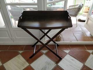 Mesa bar plegable tijera