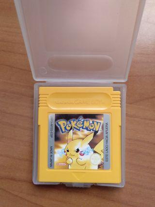Pokémon Amarillo edición Pikachu
