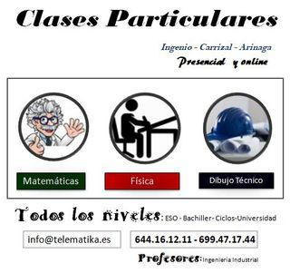 Clases particulares matemáticas, física