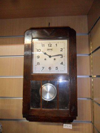 Reloj de pendulo de pared KOK vintage funciona per