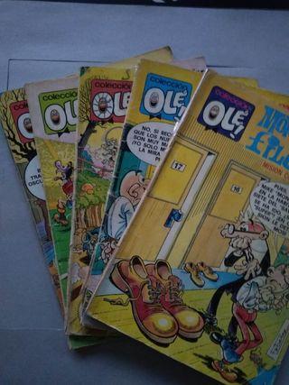 Lote de 5 comics antiguos Mortadelo y Filemón.