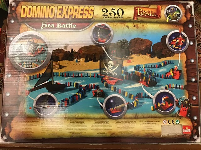 Juego Domino express Pirate 250 piezas Sea Battle