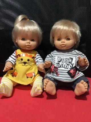 Muñecos Pitusines de Famosa.