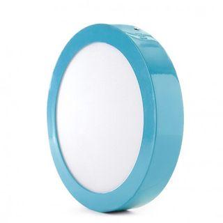 Plafón Azul LED Circular Superficie Ø220Mm 18W