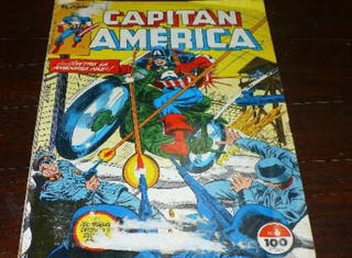 """Cómic capitán america """"contra la amenaza nazi"""""""