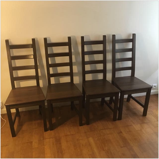 Lot Table Markor + 4 chaises Ikea