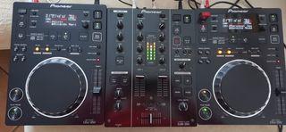 DJ M 350 + 2 CDJ 350 + Maleta Pioneer DJ