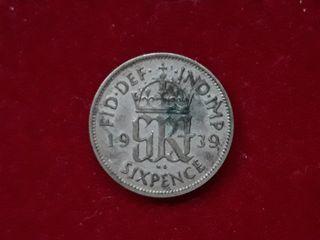 2 monedas plata Gran Bretaña