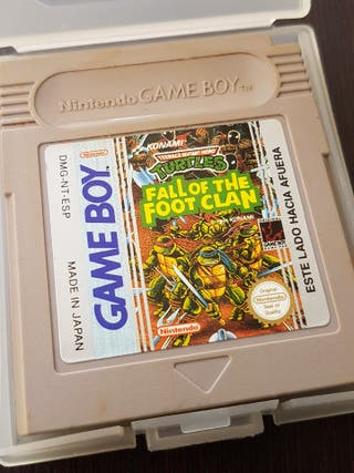 TORTUGAS NINJA FALL OF THE FOOT CLAN GAME BOY