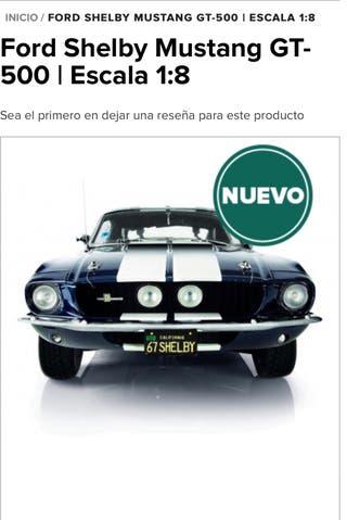 Maqueta Ford Mustang G.T. 500