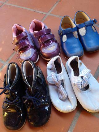 lote zapatos y botas talla 24