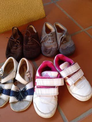 lote zapatos talla 24.falta el gris