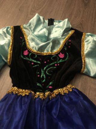 Disfraz Frozen Anna con capa Talla 6-7