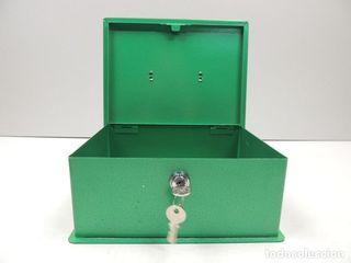 caja fuerte verde con dos llaves