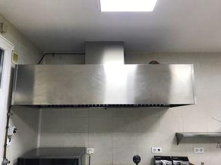 Campana extraccion humos restaurante