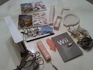 Consola Wii + juegos + mando + accesorios