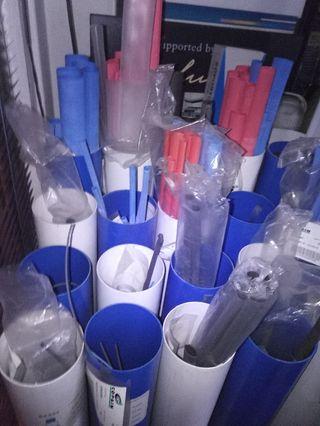 Expositor con tubo termoretractil