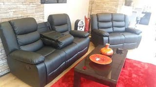 Roma bonded leather recliner sofa suites