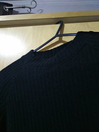 mock neck knee length dress