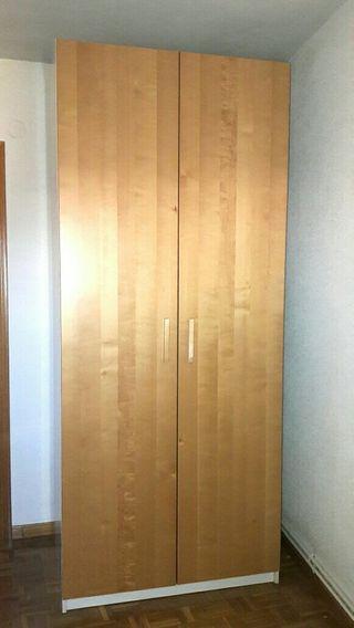 Armario ropero Pax Ikea color abedul