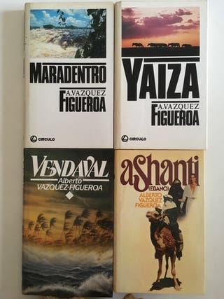 4 libros de Alberto Vázquez Figueroa (pack)