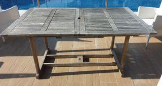 Mesa de madera 160(abierta210)×100