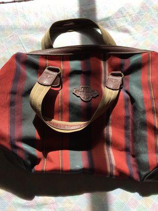 Bolso maleta viaje en cuero