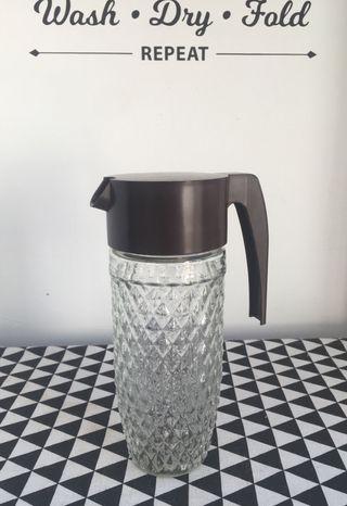 GRAN Jarra Nescafé vidrio tallado