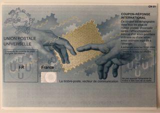 Cupón respuesta postal de Francia **