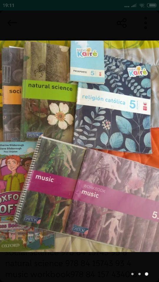 libros de texto 5°EP