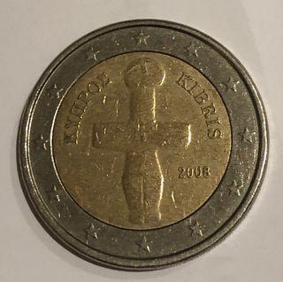 Moneda 2€ Chipre 2008