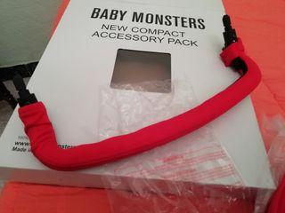 baby monster capota, barra frontal protector arnés