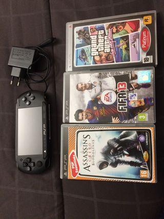 PSP con juegos