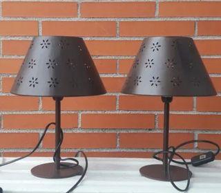 duo lámpara de acero