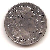 ITALIA,20 CENTIMOS 1940.