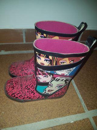 botas agua niña