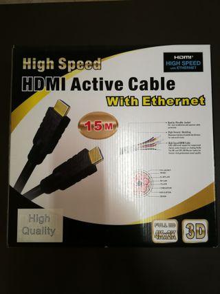 Cable hdmi 15m de alta velocidad con ethernet