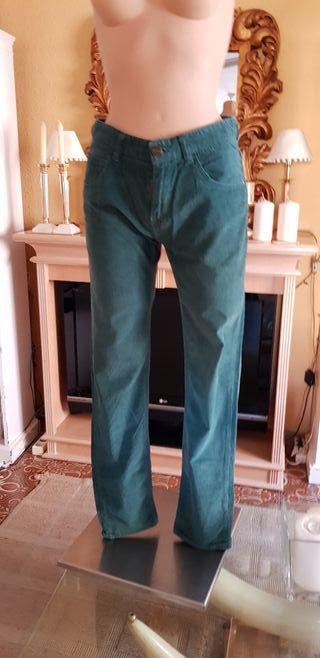pantalon pana verde zara wallapop