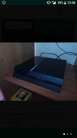 PlayStation 4 fat 500gb + mando