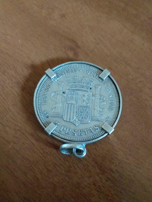 moneda de plata de 5 pesetas