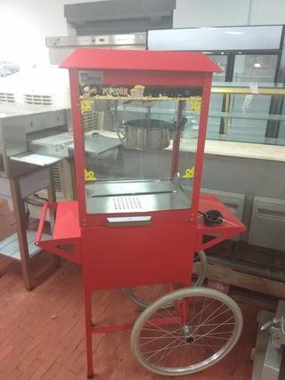 máquina de palomitas con carro