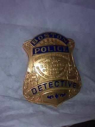 Placa Policía de Boston.