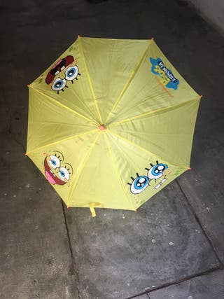 Paraguas de bob esponja