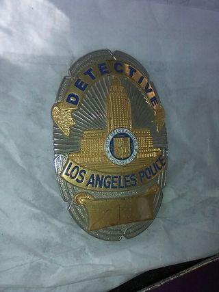 Placa Policía de Los Angeles