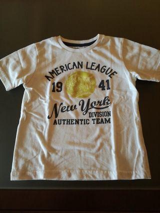 Camiseta manga corta niño, talla 3, 98cm