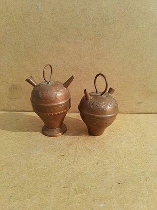 Botijos de cobre en miniatura